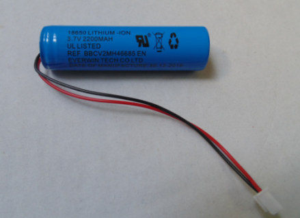 3.7V 2.2Ah li-ion battery
